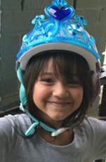 Five year-old Natalie received her bike, and a special bike helmet this past Saturday. It isn't about the bikes, but about each child that receives one.