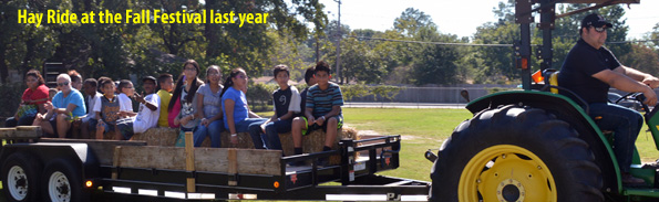 The hay ride is always a fun part of the Fall Festival